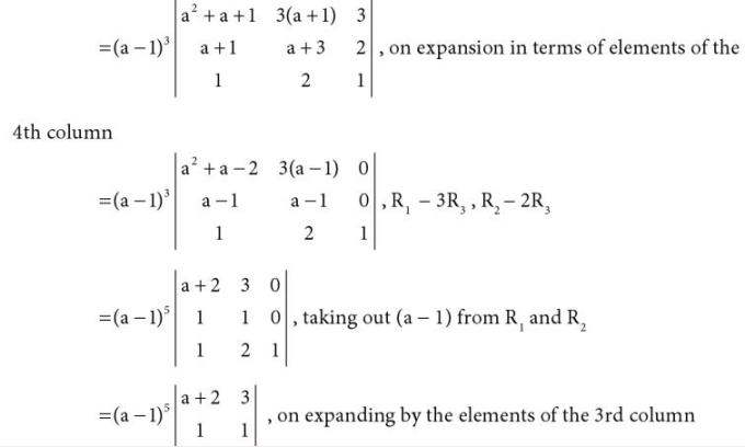 34 4 by 4 determinant with algebraic expressions