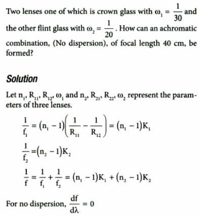 34 two lenses crown glass flint no dispersion