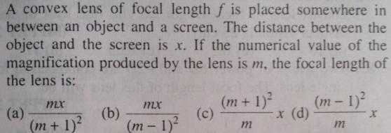 37 convex lens focal length f SKMClasses IIT JEE Bangalore