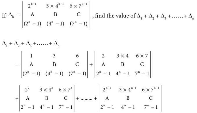 39 Determinant function of k