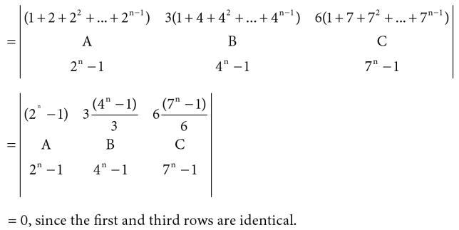 40 Determinant function of k