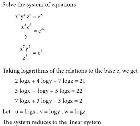 41 Take log and make linear equations