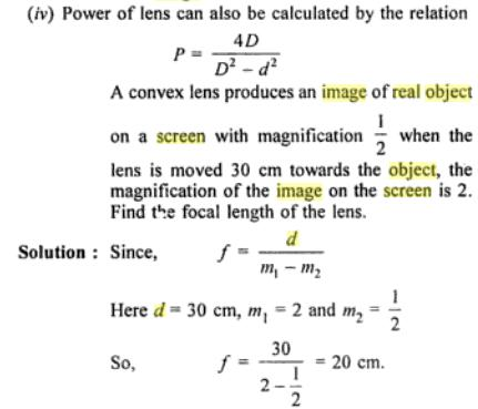 43 Distance between object and screen is d ratio of size of images