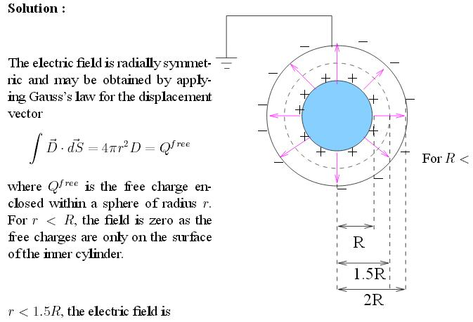 46m Spherical capacitor with dielectric