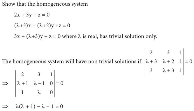 47 Only trivial solution exists