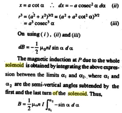 55e Solenoid of finite length cos