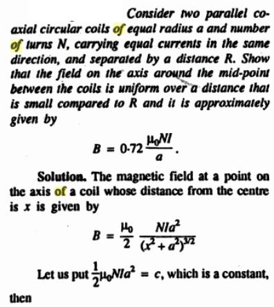 55m Solenoid of finite length cos