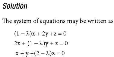6 Non trivial Solution by Determinants