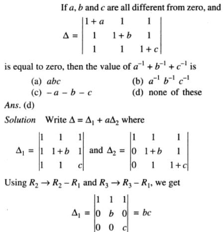 61 Determinant with a b c
