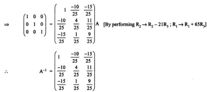 62c Using elementary transformations find inverse of matrix
