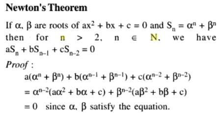 65 Q Newtons theorem of Quadratic Equations