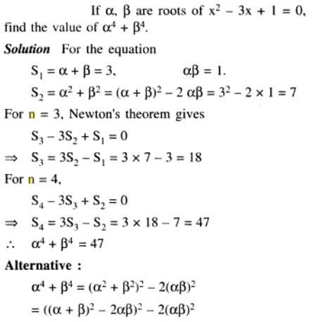 66 Q Newtons theorem of Quadratic Equations
