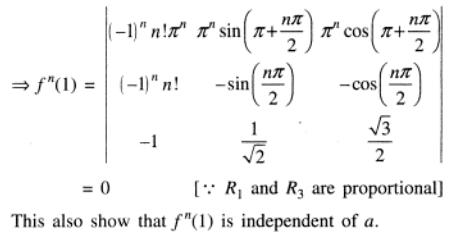 7 n th Differentiation of Determinant
