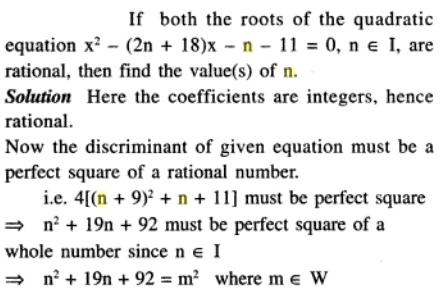 70 Q if both the roots are rational then n is