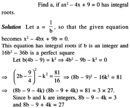 72 Q The roots needs to be integers or integral