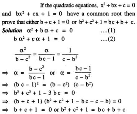 77 Q if 2 quadratic equations are having common roots then prove