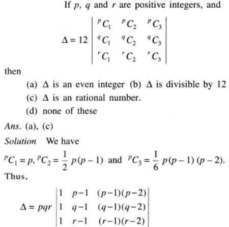 8 p q r are positive integers Determinant