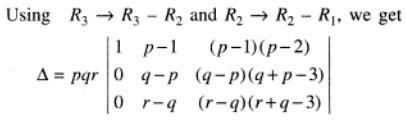 9 p q r are positive integers Determinant
