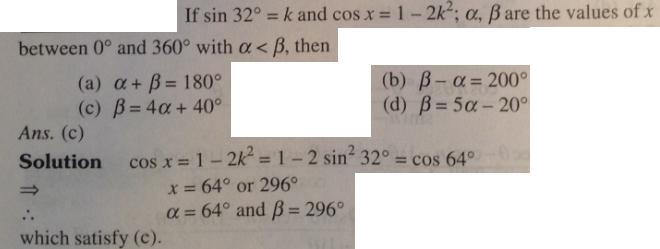 1 Trigonometry sin 32 degree