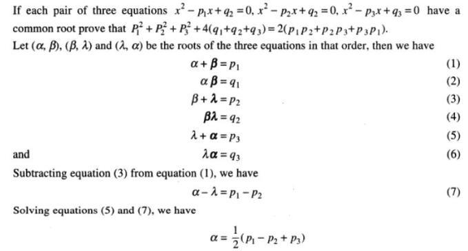 103 Quadratic Equations