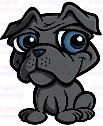 11 Puppy cartoon black