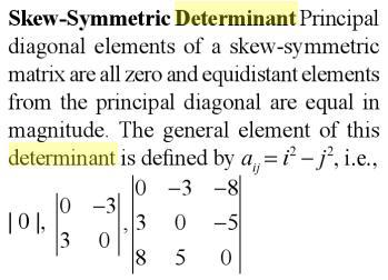 11 skew Symmetric Determinant