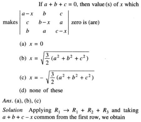 113 a plus b plus c is zero