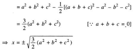 115 a plus b plus c is zero