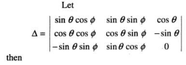 127 determinant of trigonometric expressions