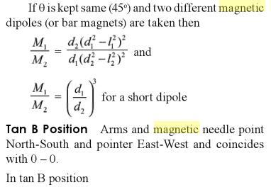 14 Deflection Magnetometer Tan A position SKMClasses Bangalore