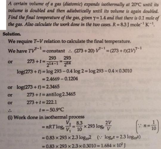 17 certain volume of gas expands isothermally at 20