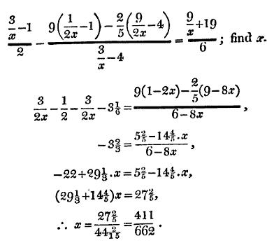 18 solve for x with fractions