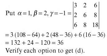 18 Sr in Determinant is given by