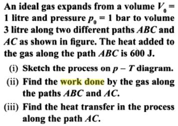 1a ideal gas expands from Vo