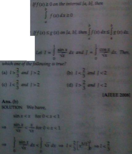 1a Inequality of Integrals
