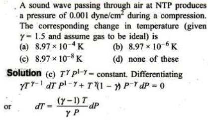 1a Sound wave in NTP change in Temp