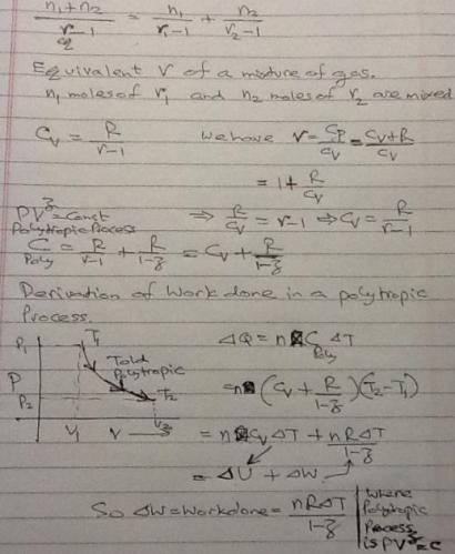 1a Thermodynamics formulae