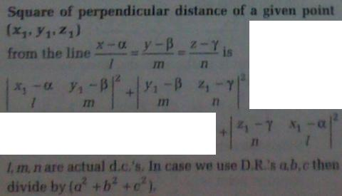 1b Foot, length, equation of perpendicular from a point