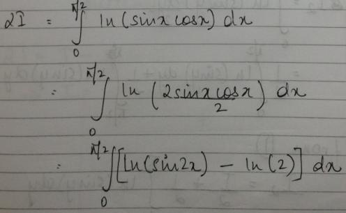 1b Ln(Sinx) dx 0 to Pi by 2