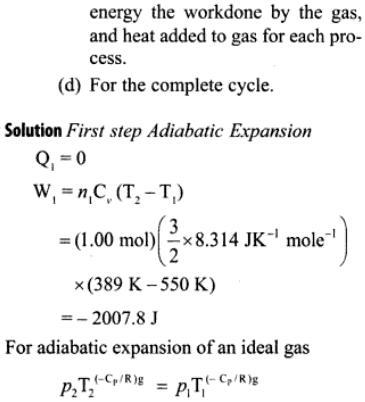 1b sample of Ideal mono atomic gas