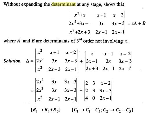 1b Without expanding ST the Determinant