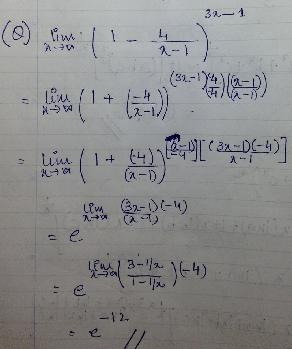 1c e to the power something limit problem