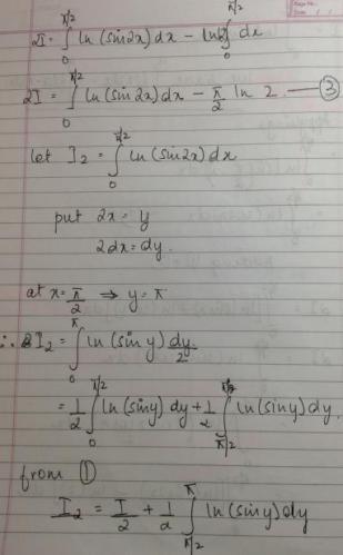 1c Ln(Sinx) dx 0 to Pi by 2