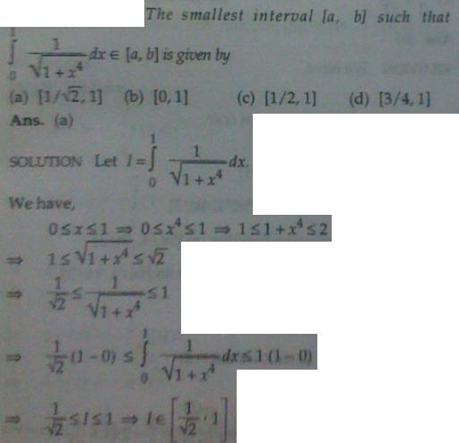 1e Inequality of Integrals