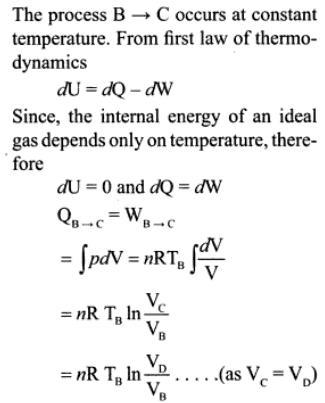 1e mono atmoic ideal gas of 2 moles cyclic
