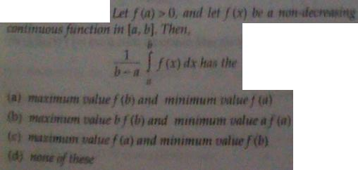 1f Inequality of Integrals