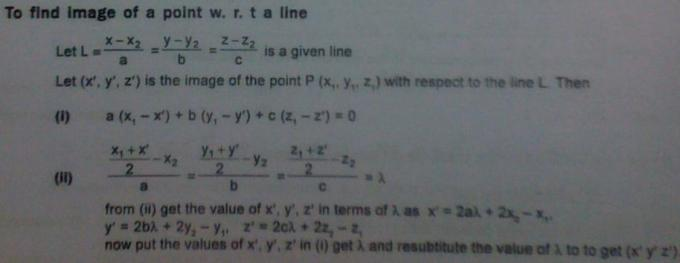 1g To find Image of a point with respect to a line
