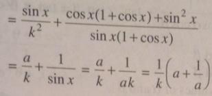 2 Sin x by a is Cos x by b is k