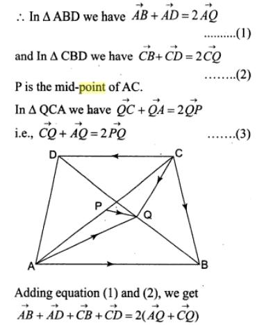 2 Vectors midpoints triangle parallelogram SKMClasses Subhashish Sir Bangalore