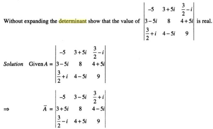 20a Determinant with Complex number